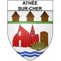 Stickers coat of arms Athée-sur-Cher adhesive sticker