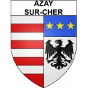 Stickers coat of arms Azay-sur-Cher adhesive sticker