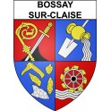 Stickers coat of arms Bossay-sur-Claise adhesive sticker