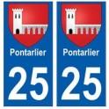 25 Pontarlier blason autocollant plaque stickers ville