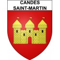 Stickers coat of arms Candes-Saint-Martin adhesive sticker