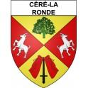Stickers coat of arms Céré-la-Ronde adhesive sticker