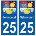 25 Seloncourt blason autocollant plaque stickers ville