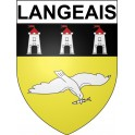 Stickers coat of arms Langeais adhesive sticker