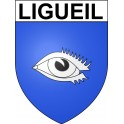 Stickers coat of arms Ligueil adhesive sticker