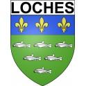 Loches 37 ville Stickers blason autocollant adhésif