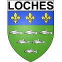 Stickers coat of arms Loches adhesive sticker