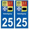 25 Valentigney blason autocollant plaque stickers ville