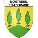 Stickers coat of arms Montreuil-en-Touraine adhesive sticker