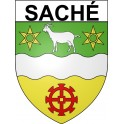 Stickers coat of arms Saché adhesive sticker