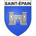 Stickers coat of arms Saint-épain adhesive sticker