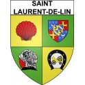 Stickers coat of arms Saint-Laurent-de-Lin adhesive sticker