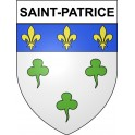 Stickers coat of arms Saint-Patrice adhesive sticker