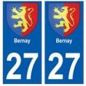 27 Bernay blason autocollant plaque stickers ville