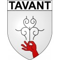 Stickers coat of arms Tavant adhesive sticker