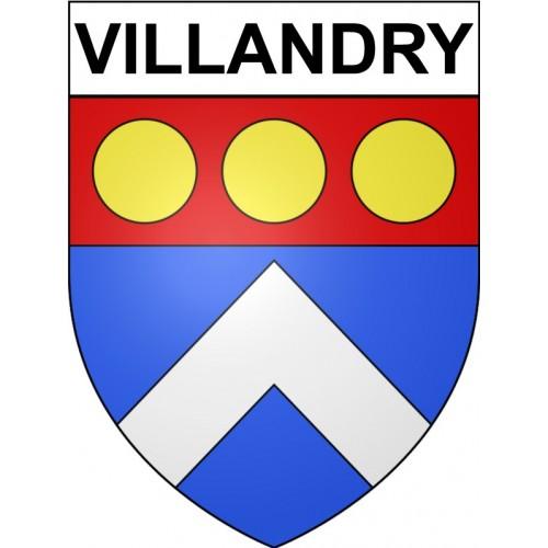 Villandry 37 ville Stickers blason autocollant adhésif