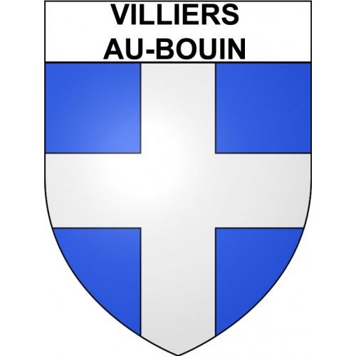 Villiers-au-Bouin 37 ville Stickers blason autocollant adhésif