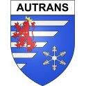 Stickers coat of arms Autrans adhesive sticker