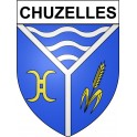 Stickers coat of arms chuzelles adhesive sticker