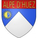 Stickers coat of arms huez adhesive sticker