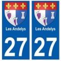 27 Les Andelys blason autocollant plaque stickers ville