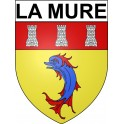 Stickers coat of arms La Mure adhesive sticker