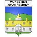 Monestier-de-Clermont 38 ville Stickers blason autocollant adhésif