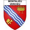 Montalieu-Vercieu 38 ville Stickers blason autocollant adhésif
