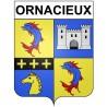 Ornacieux 38 ville Stickers blason autocollant adhésif
