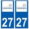 27 Louviers logo autocollant plaque stickers ville