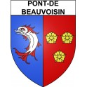 Stickers coat of arms Pont-de-Beauvoisin adhesive sticker