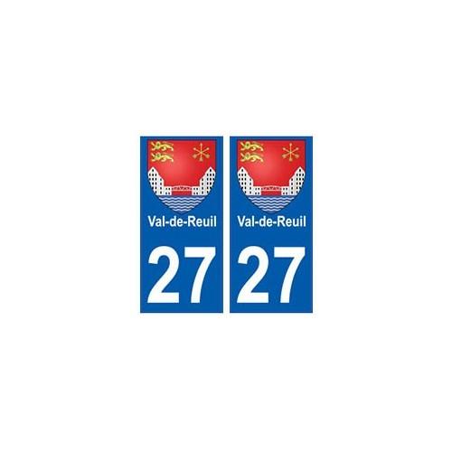 27 Val-de-Reuil blason autocollant plaque stickers ville
