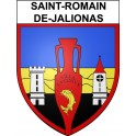 Stickers coat of arms Saint-Romain-de-Jalionas adhesive sticker