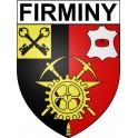 Firminy 42 ville Stickers blason autocollant adhésif