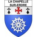 Stickers coat of arms La Chapelle-sur-Erdre adhesive sticker