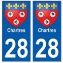 28 Chartres blason stickers ville
