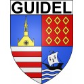 Stickers coat of arms Guidel adhesive sticker