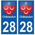 28 Châteaudun blason stickers ville