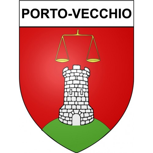 Stickers coat of arms Ajaccio adhesive sticker