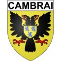 Stickers coat of arms Cambrai adhesive sticker
