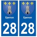 28 Epernon blason stickers ville