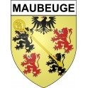 Stickers coat of arms Maubeuge adhesive sticker