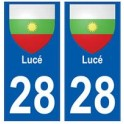28 Luce coat of arms stickers city