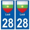28 Lucé blason stickers ville