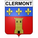 Stickers coat of arms Clermont adhesive sticker