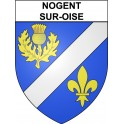 Stickers coat of arms Nogent-sur-Oise adhesive sticker