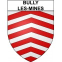 Stickers coat of arms Bully-les-Mines adhesive sticker
