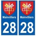28 Mainvilliers blason stickers ville