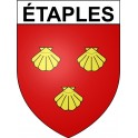 Stickers coat of arms étaples adhesive sticker