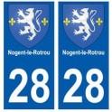 28 Nogent-le-Rotrou blason stickers ville